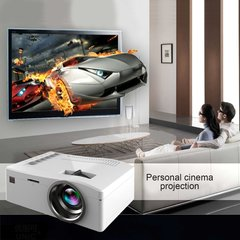 UC18 Portable Projector With HDMI TF Card USB LED For Home Theater EU Plug white