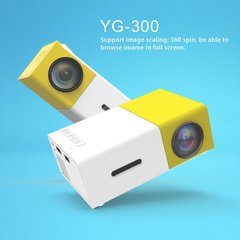 YG300 Professional Mini Projector Full HD1080P Home Theater LED Projector LCD yellow