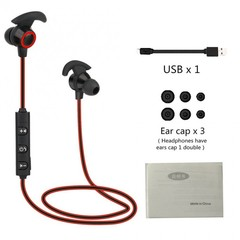 AX-02 Comfortable Wireless Bluetooth V4.1 Running Noise Reduction Earphone black + red