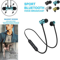 Multi-Colors Earbuds Headphone Stereo Sports Earphone Wireless Magnetic Headset Earphone black