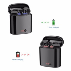i7s TWS Mini Wireless Bluetooth Earphone Stereo Earbud Headset With Charging Box Mic black