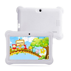 Q88 Tablet 7 Inch 512MB ROM+8GB RAM Tablet for Kid Cartoon Tablet white