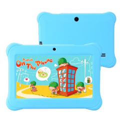 Q88 Tablet 7 Inch 512MB ROM+8GB RAM Tablet for Kid Cartoon Tablet sky blue