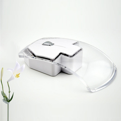 Universal Wireless Glowing Mute Mouse Fashion Ultra thin Wireless Emitting Slient Mouse white 11.3cm*6cm
