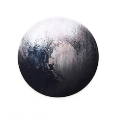 Gaming Mouse Pads Computer Mouse Padding Mat Ultra Soft Natural Rubber Planet Series Mice Pad Round Pluto 22x22x0.3cm