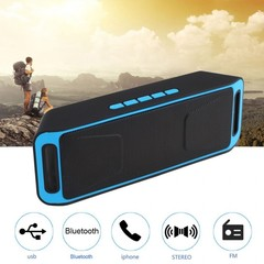Portable Music Audio Wireless Bluetooth Speaker Stereo Subwoofer SC208 blue