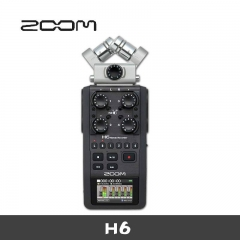 ZOOM H6 recorder Portable handheld digital recorder Mixer Recording counter Simultaneous recording