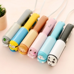 Fashion Mini hair straightener Cartoon hair tools Travel straightening Curling irons  cute pink cat as picture