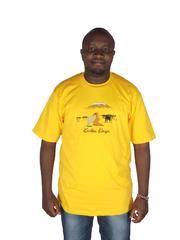 Karibu Kenya T-shirt Large Yellow