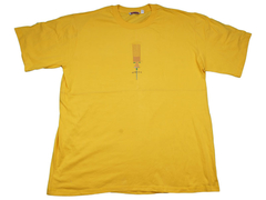 Funky African design T-shirt X-LARGE Yellow