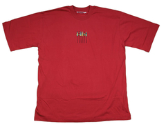 Funky African design T-shirt X-LARGE Maroon