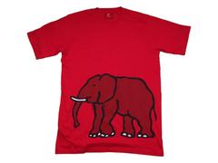 Elephant Print Designer T-shirts X-LARGE Red
