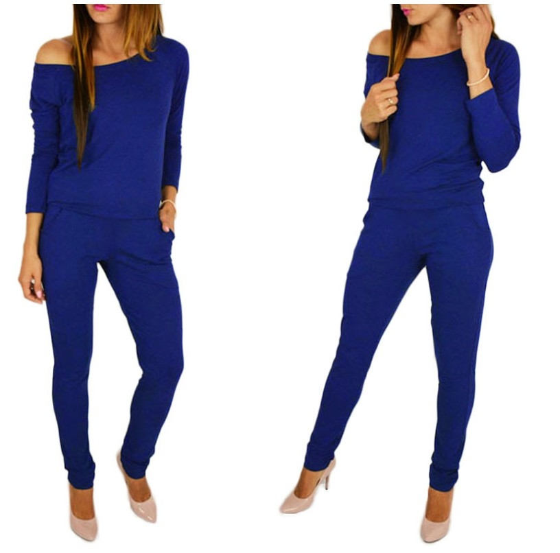 2245a6c60566 2018 Amazon Wish AliExpress ebay Explosion models Europe and America  Women s Long Sleeve Off Shoulder Casual Jumpsuit