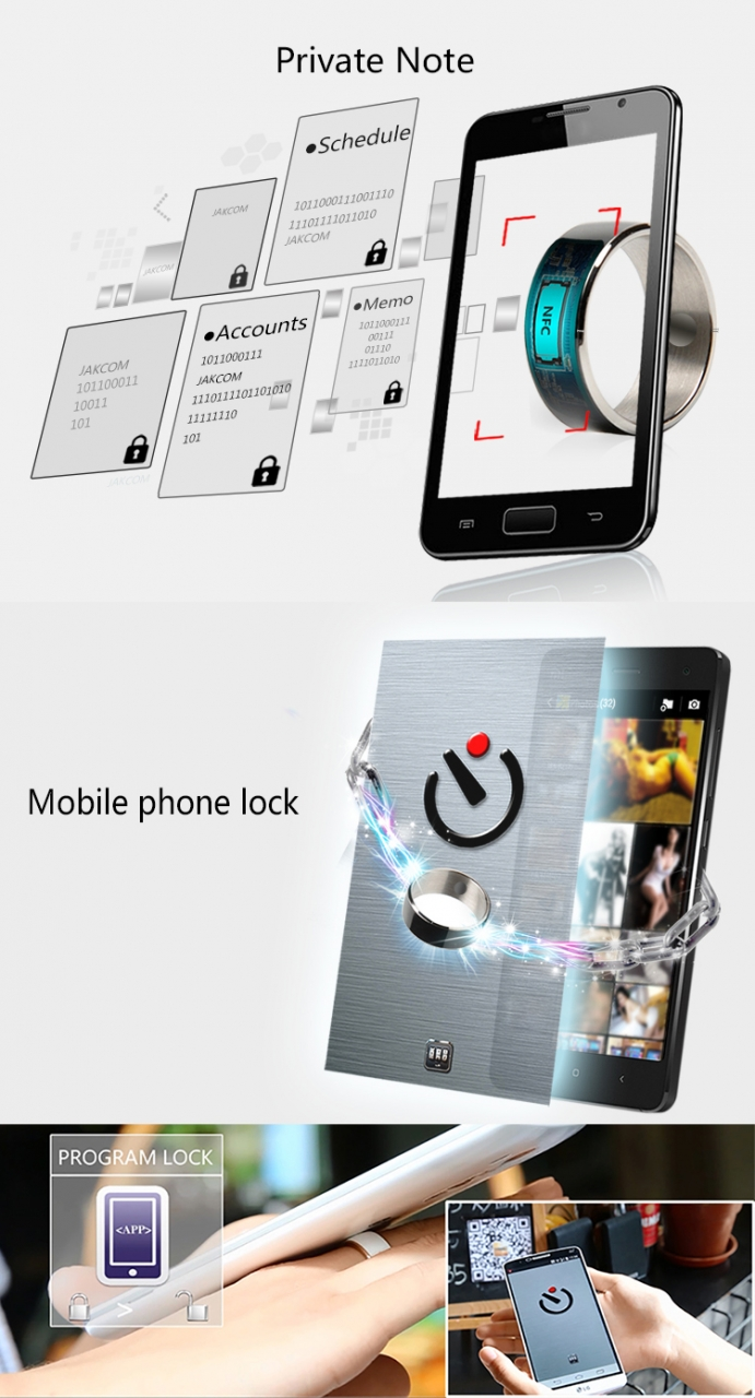Smart ring R3 high-tech magic ring nfc ring Android mobile phone