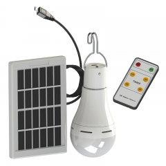 LED solar energy charging energy-saving bulb lamp hand lamp waterproof lamp remote control Household charging emergency light Light bulb + solar panel + remote control