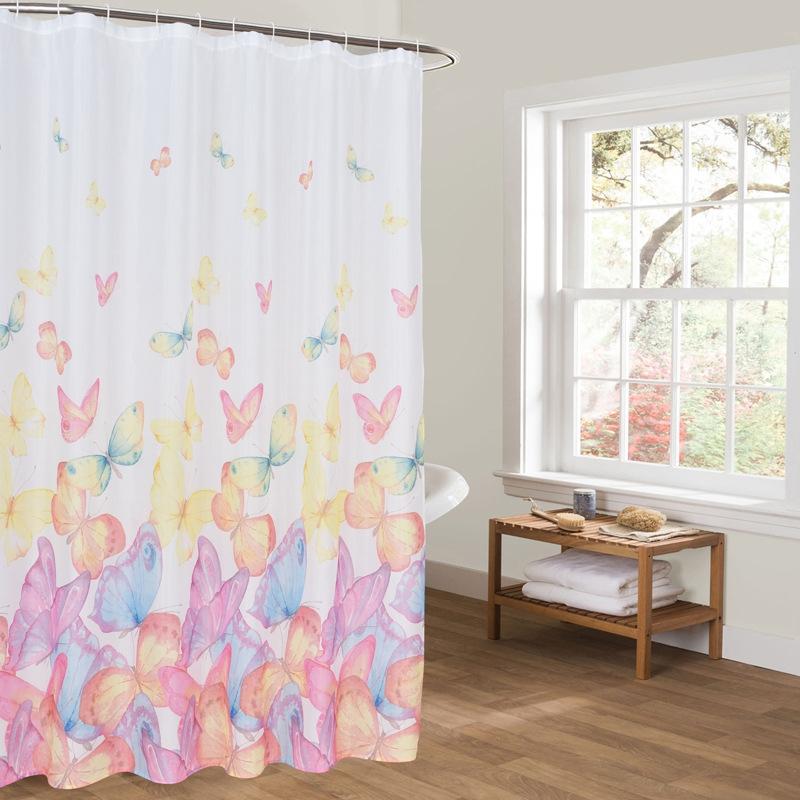 Printing Shower Curtain Waterproof Bathroom Shower Curtain