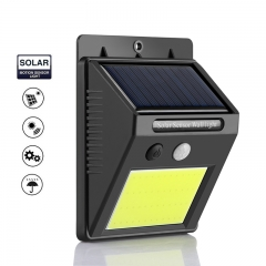 Waterproof outdoor wall LED solar lamp PIR motion sensor switch solar lamp black outdoors solar power