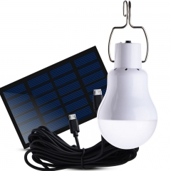 LED lights solar energy power night market outdoor camping light bulbs solar floor lamps Rechargeable light + solar panel outdoors solar power