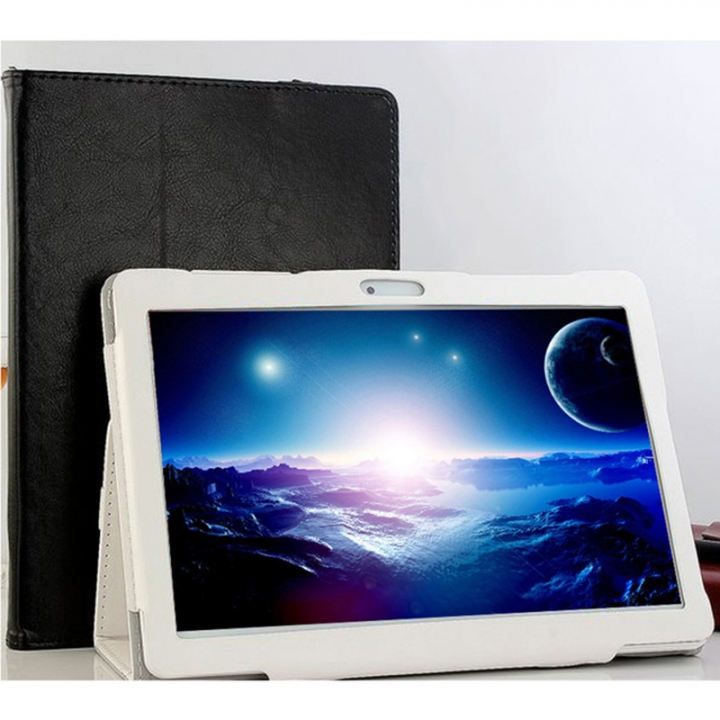 10.1 inch 4G mobile phone eight core RAM 4GB ROM 32 GB Bluetooth GPS 1920X1200 IPS tablet white(send leather case) 4G+64G