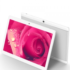 10.1 inch eight core RAM 4GB ROM 64 GB dual card Bluetooth GPS 1920X1200 IPS smart tablet white 4G+64G