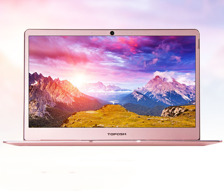 Toposh 13.3 inch laptop thin laptop quad-core cpuN3450 HD portable business office Internet Gold 6G+120G SSD