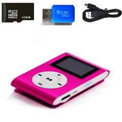 Mini USB Clip LCD Screen MP3 Music Player USB Data Cable Headphones Sports Metal Music Player