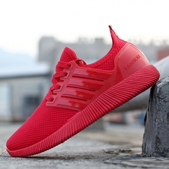 2019 new men's shoes, leisure sports, running shoes, wear shoes, shoes, etc. red 43