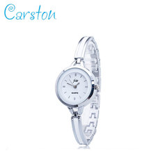 2019  women fashion watches rhinestone wristwatches ladies classic luxury quartz watch silver one size