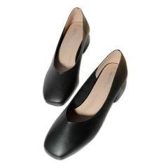 2018 autumn new women's shoes retro grandmother shoes black 4