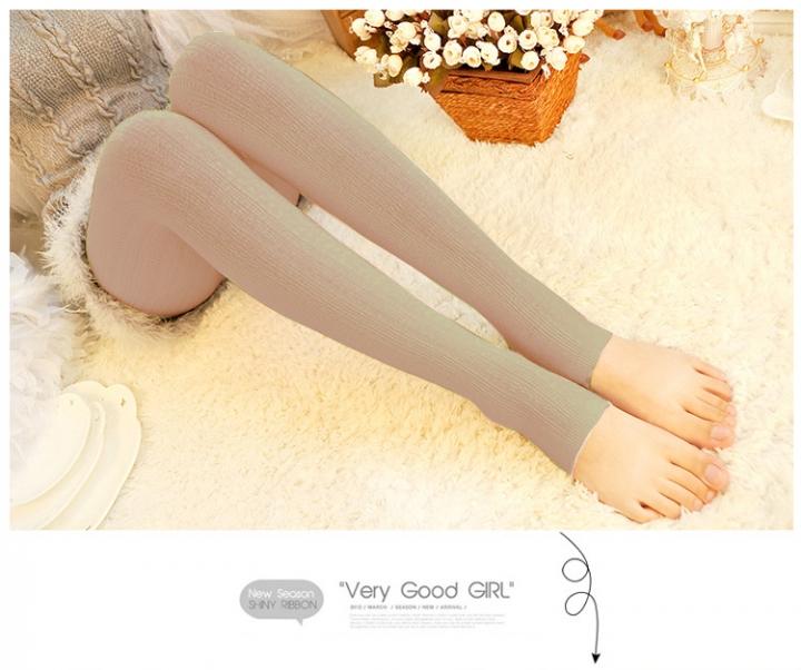 a13787f92f8 Women Winter Pantyhose Tights Thick Knit Fashion Footed Warm Socks  Stockings Light khaki No socks