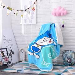 Cashmere Children's Cartoon Blanket Baby Blanket Double Thicken Air Conditioning Blanket Jingle cat 1*1.4m