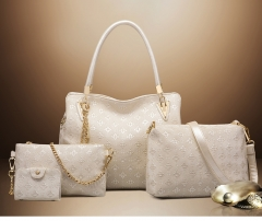 4colors Classic Fashion Women Luxury Handbag PU Leather Genuine Bags white one size