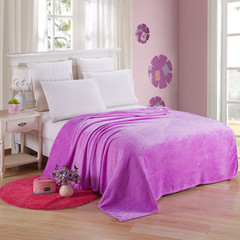 Flannel blanket blanket warm sheets, home outdoor car interior blanket purple 50cm*70cm80g
