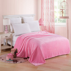 Flannel blanket blanket warm sheets, home outdoor car interior blanket Pink 50cm*70cm80g