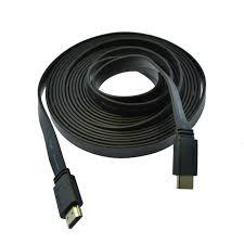 HDMI FLAT CABLES 5 METRES black 5m