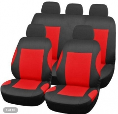 T21165 Universal 9 pcs Car Seat Cover Set Anti-Dust Auto Cushion Protector RED ONE SIZE