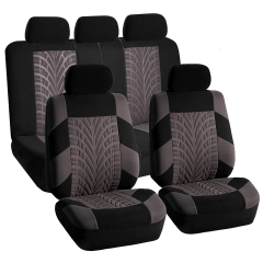 T21165 Universal 9 pcs Car Seat Cover Set Anti-Dust Auto Cushion Special craft cloth art red one size