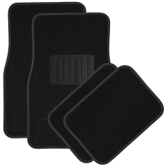 4-Piece Black Premium Quality Carpet Vehicle Car Floor Mats Driver Seat,  Rear Floor Mats black one size