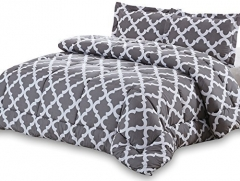 High Quality Cotton Duvet with 2 Pillow cases and 1 Bedsheet 4pcs Lattices Comfortable grey twin