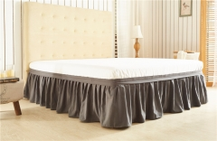 Bedding article Cozy Pure color bed skirt skirt protection sleeve grey 198*203*40cm