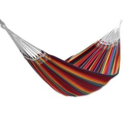 Hammock Hand Woven Multi-Color Striped Cotton 2 Person Hammock, Brazilian Rainbow one
