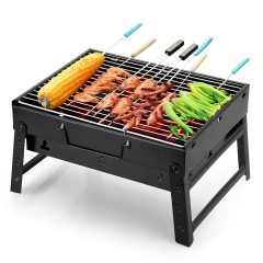Barbecue Grill Camping Picnic Patio Stainless Steel Charcoal Furnace BBQ Grills Stove Tools
