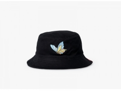 NUZADA dome cap, double female fisherman hat, embroidered cotton butterfly outdoor hat. *