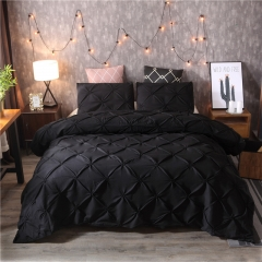 Bedding pure plain three piece suit  Quilt cover and Two pillowcases red king