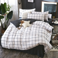 Bedroom Soft High Quality Cotton Duvet with 2 Pillow cases and 1 Bedsheet 4pcs * twin