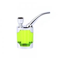 Portable Mini Water Smoke Pipe Hookah Bong Smoking Tobacco Glass Bubbler Green