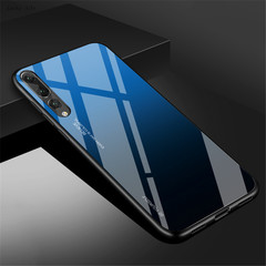 Gradient Tempered Glass Phone Case For Huawei P30 Lite Phone Cover 1 one size