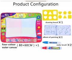 Kids Drawing Toys Magic Water Pen Drawing Board Mat Baby Play Mat Educational Toys For Children multicolor One Size