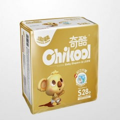 Chikool Size S/M/L/XL for 3-12kg Newborn Baby Disposable diapers Day&Night Dry Lasting diapers as picture S 28pcs