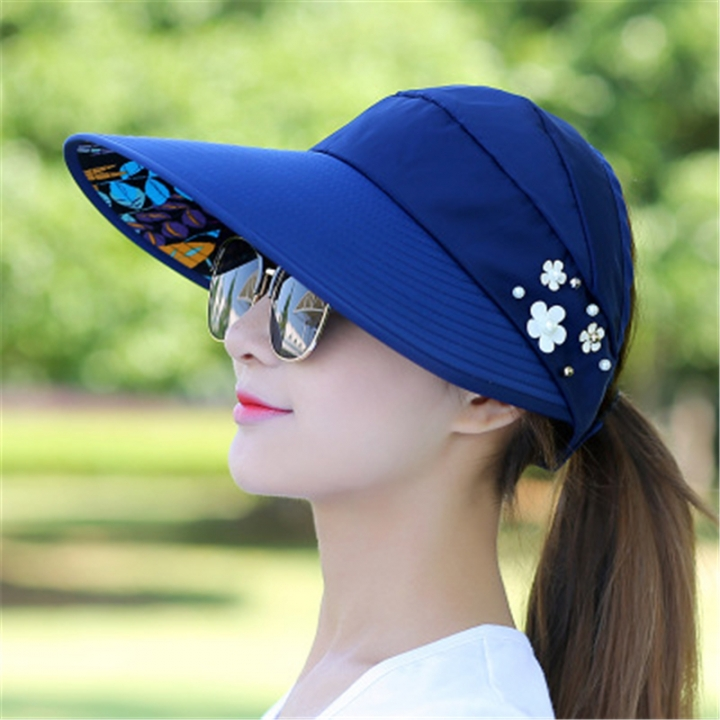 8f05375ee11 Hat female summer leisure wild travel summer new folding sun protection sun  hat visor cool hat